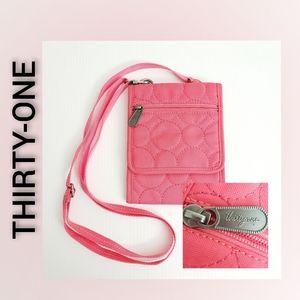 Thirty One Crossbody Wallet Bag Pink
